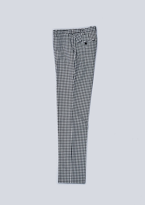 OX1 BALL-POKET PANTSGINGHAM / BLACK