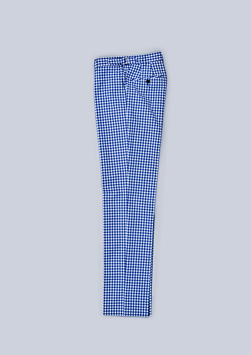 OX1 BALL-POKET PANTSGINGHAM / BLUE